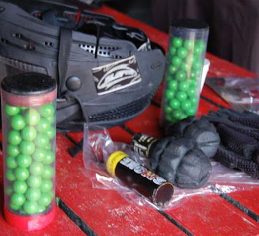 paintballing equipment